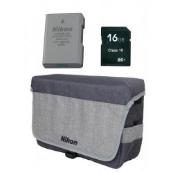 3 in 1 Accessory Kit - EN-EL14 + DSLR BAG + 16 GB SD