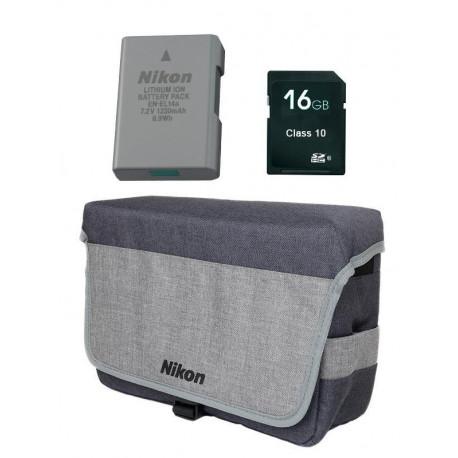 Nikon 3 in 1 Accessory Kit - EN-EL14 + DSLR BAG + 16 GB SD