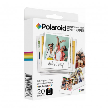 Polaroid Zink 3x4 in (7,6x10 см) 20 бр.
