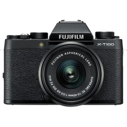 Fujifilm X-T100 (черен) + обектив Fujifilm Fujinon XC 15-45mm f/3.5-5.6 OIS PZ + обектив Zeiss 32mm f/1.8 - FujiFilm X