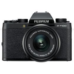 Fujifilm X-T100 (черен) + обектив Fujifilm Fujinon XC 15-45mm f/3.5-5.6 OIS PZ + обектив Zeiss 32mm f/1.8 - FujiFilm X
