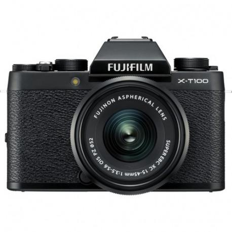 фотоапарат Fujifilm X-T100 (черен) + обектив Fujifilm Fujinon XC 15-45mm f/3.5-5.6 OIS PZ
