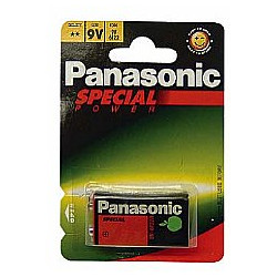 Battery Panasonic 6F22 Zinc Carbon 9V Battery 1 pc.