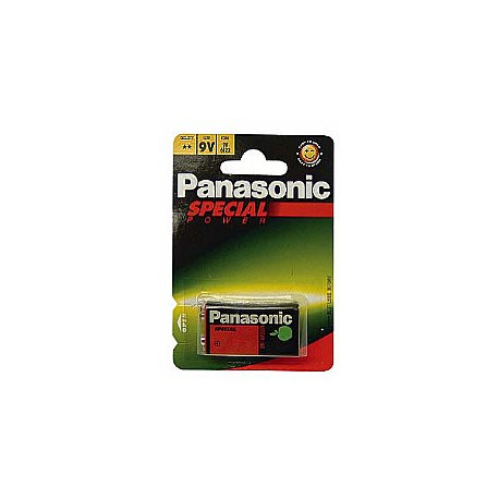 Panasonic 6F22 Zinc Carbon 9V Battery 1 pc.