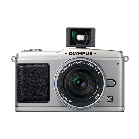 фотоапарат Olympus EP-1 PEN (сребрист) + обектив Olympus MFT 17mm f/2.8 silver + аксесоар Olympus VF-1 Micro Optical Viewfinder оптичен визьор