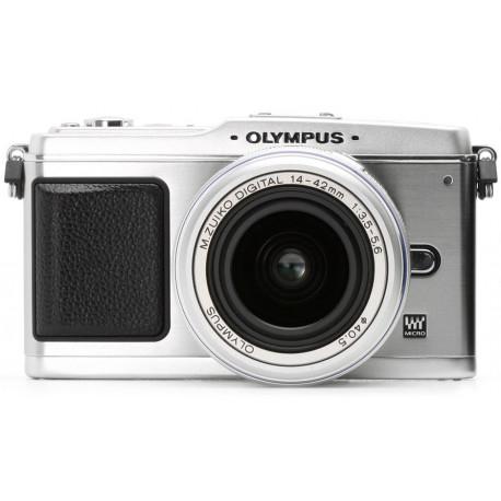 фотоапарат Olympus EP-1 PEN (сребрист) + обектив Olympus M.ZUIKO DIGITAL ED 14-42mm F/3.5-5.6 (сребрист)