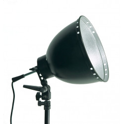 светкавица Dynaphos Комплект - стойка за чадър, рефлектор 30 см, фасунга
