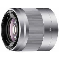 обектив Sony SEL 50mm F/1.8 (сребрист)