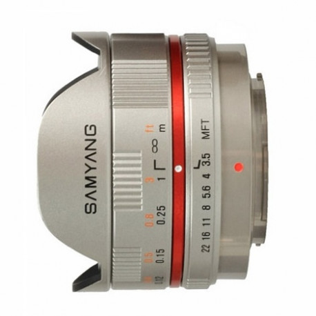 Samyang 7.5mm f/3.5 Fish-eye - mFT (сребрист)
