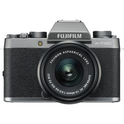 фотоапарат Fujifilm X-T100 (dark silver) + обектив Fujifilm Fujinon XC 15-45mm f/3.5-5.6 OIS PZ