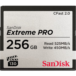 SANDISK EXTREME PRO CFAST 2.0 256GB R:525MB/S/W:450MB/S SDCFSP-256G-G46D