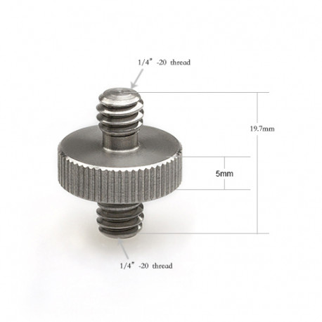 "SMALLRIG SR-1613 DOUBLE HEAD STUD-1/4""-1/4"""