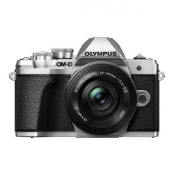 Camera Olympus E-M10 III (сребрист) + Lens Olympus MFT 14-42mm f/3.5-5.6 II R MSC + Lens Olympus MFT 45mm F/1.8 MSC + Bag Lowepro New 140 AW II Mica Pixel Camo + Memory card Lexar Professional SD 64GB XC 633X 95MB / S + Accessory Zeiss Lens Cleaning Kit Premium