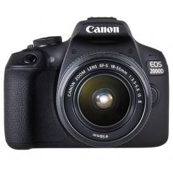 фотоапарат Canon EOS 2000D + обектив Canon EF-S 18-55mm f/3.5-5.6 IS + обектив Canon EF 50mm f/1.8 STM + карта Lexar Professional SD 64GB XC 633X 95MB/S