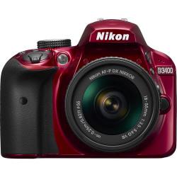 NIKON D3400 RED+AF-P 18-55MM F/3.5-5.6G VR KIT+DSLR BAG