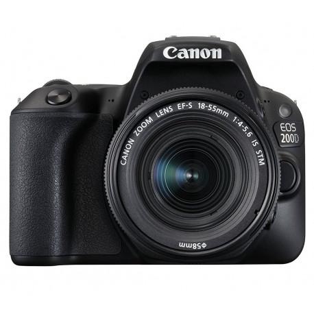 фотоапарат Canon EOS 200D + обектив Canon EF-S 18-55mm IS STM