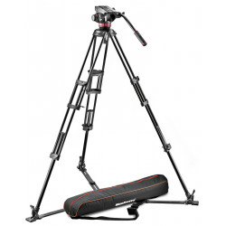 статив Manfrotto Pro Video Aluminium System - 4KG Подов паяк + чанта Manfrotto 192N Pro Light видеочанта