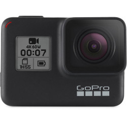 видеокамера GoPro HERO7 Black + статив GoPro Shorty (Mini Extension Pole + Tripod) + батерия GoPro Rechargeable Battery HERO5 Black AABAT-001-EU + карта SanDisk 32GB Extreme UHS-I Micro SDHC