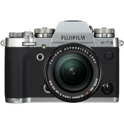 фотоапарат Fujifilm X-T3 (сребрист) + обектив Fujifilm XF 18-55mm f/2.8-4 R LM OIS + обектив Zeiss 32mm f/1.8 - FujiFilm X