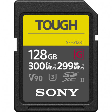 Memory card Sony Tough SDXC 128GB UHS-II U3 + Charger Sony CP-V10B / B1 Portable Charger