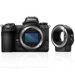 фотоапарат Nikon Z6 + адаптер Nikon FTZ адаптер (F обективи към Z камера) + чанта Nikon кожена + карта Sony XQD 64GB