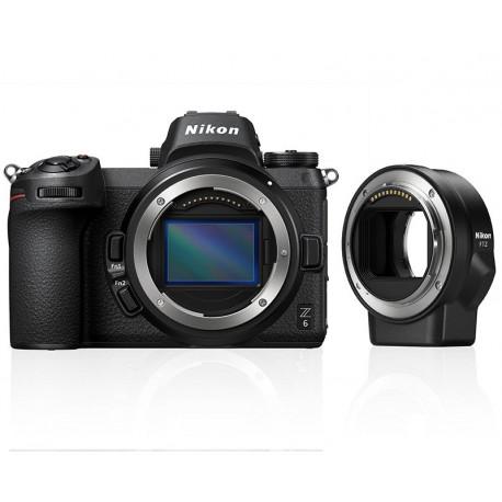 Nikon Z6 + Lens Adapter Nikon FTZ Adapter (F Lenses to Z Camera) + Bag Nikon Leather bag CS-P14