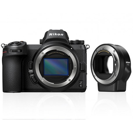 Camera Nikon Z6 + Lens Adapter Nikon FTZ Adapter (F Lenses to Z Camera)