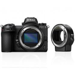 фотоапарат Nikon Z7 + адаптер Nikon FTZ адаптер (F обективи към Z камера) + чанта Nikon кожена + карта Sony XQD 64GB