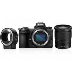 фотоапарат Nikon Z7 + обектив Nikon Z 24-70mm f/4 S + адаптер Nikon FTZ адаптер (F обективи към Z камера) + обектив Nikon Z 50mm F/1.8 S