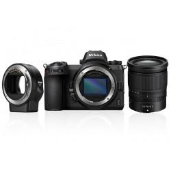 фотоапарат Nikon Z6 + обектив Nikon Z 24-70mm f/4 S + адаптер Nikon FTZ адаптер (F обективи към Z камера) + чанта Nikon кожена + карта Sony XQD 64GB
