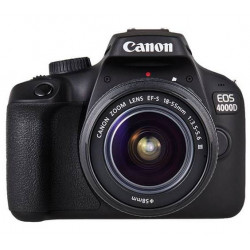 DSLR camera Canon EOS 4000D + Lens Canon 18-55mm F/3.5-5.6 DC III + Memory card Lexar 32GB Professional UHS-I SDHC Memory Card (U3)
