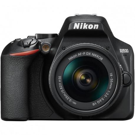 Nikon D3500 + Lens Nikon AF-P 18-55mm VR + Nikon AF-P DX Nikkor 70-300mm f / 4.5-6.3G ED VR + Bag Nikon DSLR BAG + Memory card Lexar Professional SD 64GB XC 633X 95MB / S + Accessory Zeiss Lens Cleaning Kit Premium