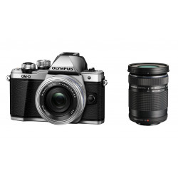 OLYMPUS OM-D E-M10 MARK II SILVER+14-42MM EZ+40-150MM F/4-5.6 ED R MSC BLACK KIT