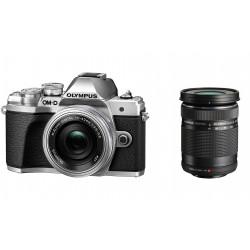 фотоапарат Olympus E-M10 III (сребрист) + обектив Olympus ZD Micro 14-42mm f/3.5-5.6 EZ ED MSC (сребрист) + обектив Olympus 40-150mm f/4-5.6 R MSC