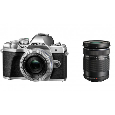 OLYMPUS OM-D E-M10 MARK III SILVER+14-42MM EZ+40-150MM F/4-5.6 ED R MSC BLACK KIT