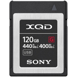 Sony XQD 120GB R:440 MB/s / W:400 MB/s