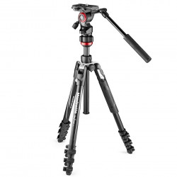 Tripod Manfrotto Befree Live Lever Video clip with clips