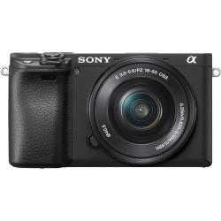 фотоапарат Sony A6400 (черен) + обектив Sony SEL 16-50mm f/3.5-5.6 PZ + статив Sony VCT-SGR1