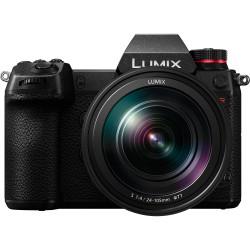 фотоапарат Panasonic Lumix S1R + обектив Panasonic S 24-105mm f/4 Macro OIS + обектив Panasonic Lumix S Pro 50mm f/1.4 + батерия Panasonic Lumix DMW-BLJ31