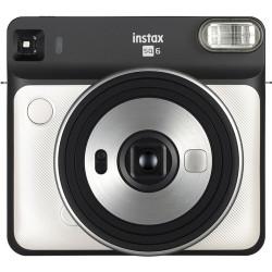 фотоапарат Fujifilm Instax Square SQ6 (Pearl White) + фото филм Fujifilm Instax Square моментален филм - черна рамка (10 л.) + албум Fujifilm Instax SQ Album (Rose Golden)