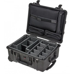 Case Peli Case 1560SC with dividers (black) + Loc Lid Organizer (black)