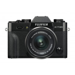 Camera Fujifilm X-T30 (черен) + Lens Fujifilm Fujinon XC 15-45mm f / 3.5-5.6 OIS PZ