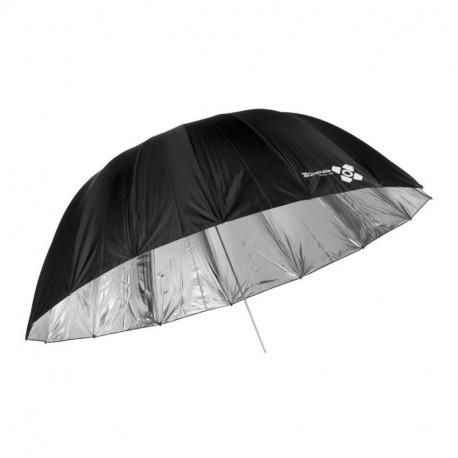 Space Параболичен чадър 185 см сребрист
