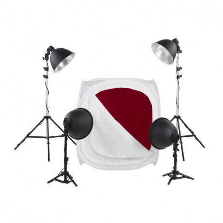 Quadralite LH-40 LED Light Shed Kit - subject photography kit