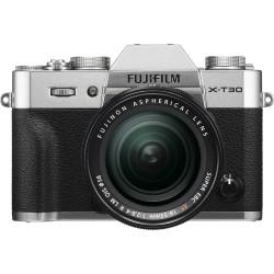 фотоапарат Fujifilm X-T30 (сребрист) + обектив Fujifilm XF 18-55mm f/2.8-4 R LM OIS