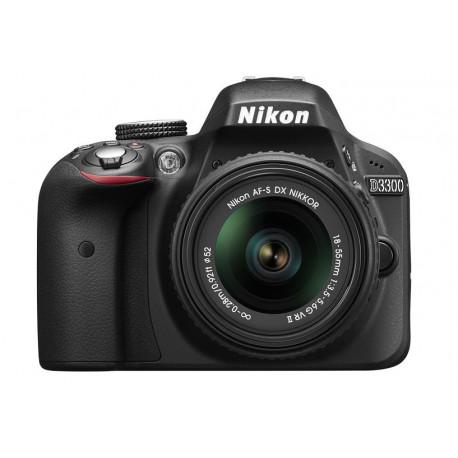 Nikon D3300 + AF-P Nikkor DX 18-55mm f/3.5-5.6G VR (употребяван)