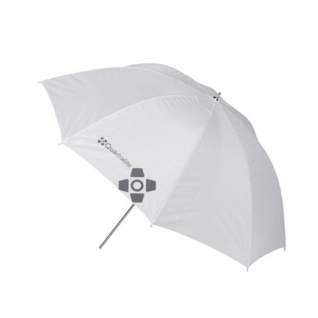 QUADRALITE WHITE TRANSPARENT UMBRELLA 91 CM
