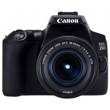 Canon EOS 250D + Lens Canon EF-S 18-55mm f/3.5-5.6 IS + Memory card Lexar Professional SD 64GB XC 633X 95MB / S