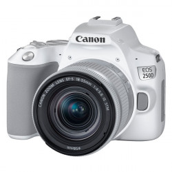 DSLR camera Canon EOS 250D (White) + Canon EF-S 18-55mm f / 3.5-5.6 IS Lens