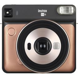 фотоапарат Fujifilm Instax Square SQ6 (Blush Gold) + фото филм Fujifilm Instax Square моментален филм - черна рамка (10 л.) + албум Fujifilm Instax SQ Album (Rose Golden)